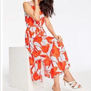 NWOT Ann Taylor Floral Midi Dress, size 6